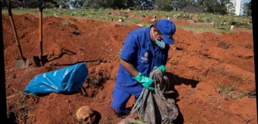 Brazil digging up bodies to make room for coronavirus victims in cemeteries as death toll overtakes UK as 2nd highest