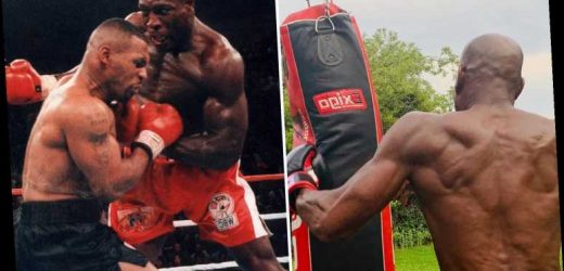 Frank Bruno, 58, shows off incredible body and hints at comeback as boxing fans call for Mike Tyson trilogy fight – The Sun
