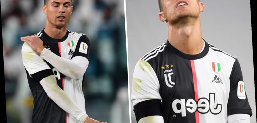 Watch Ronaldo miss header, shoot into Row Z and fluff a step over as fans fear Juventus star looks 'rusty' on return – The Sun