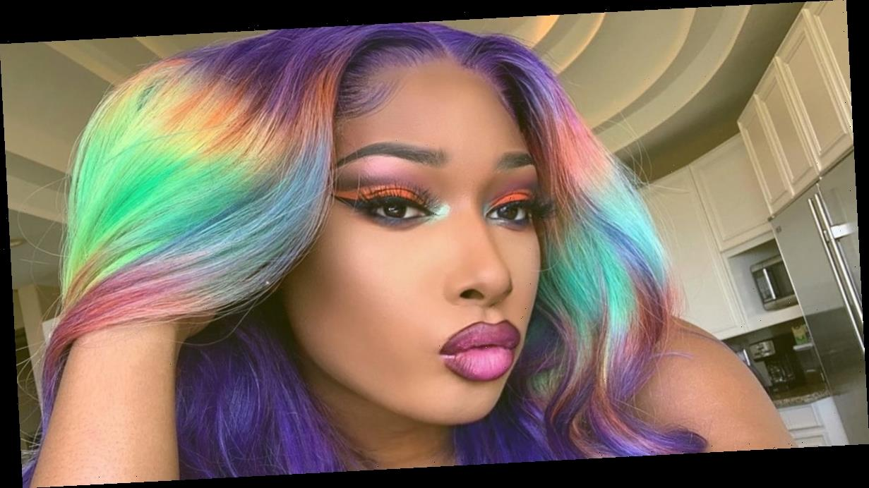 Megan Thee Stallion and Her Rainbow Wig Would Like to Wish You a Happy Pride Month