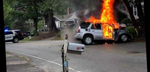 Neighbors Heroically Rescue Driver Whose Car Burst into Flames After Father's Day Crash