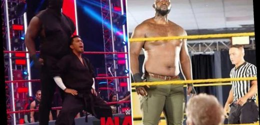 Identity of WWE's new Giant Ninja revealed to be 7ft 3in Jordan Omogbehin, one of the tallest wrestlers of all time – The Sun