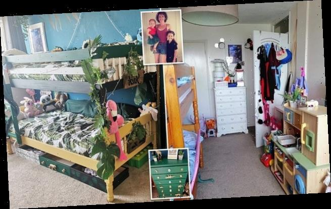 Mother transforms tired-looking room into jungle paradise for £150