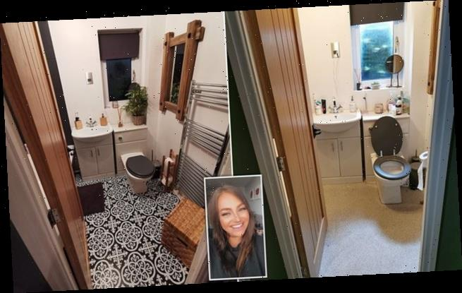 Savvy homeowner gives her bathroom a Scandi-inspired makeover for £80