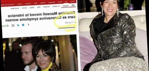 Ghislaine Maxwell will die from coronavirus in prison cover-up, Epstein conspiracy theory 'truthers' claim