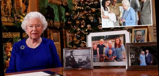 Prince Harry and Meghan Markle 'felt snubbed when Queen left them out of family snaps in Christmas speech'