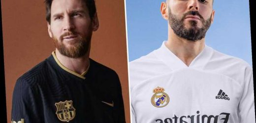 Real Madrid and Barcelona release new home and away kits for 2020-21 season as Benzema, Messi and Co pose-up