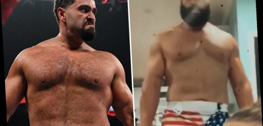 Axed WWE star Rusev shows off body transformation after bulking up as he waits for non-compete clause to expire