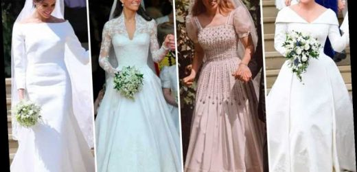 10 best Royal wedding dresses from Meghan Markle and Princess Beatrice to Kate Middleton and Diana