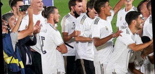 Fans joke Gareth Bale tried to INJURE his Real Madrid team-mates as he kicks ankles in bizarre title celebration video