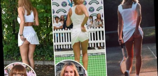 From Amanda Holden to Alan Carr, Rhian Sugden rates cheeky celebs who copied the knickerless Athena Tennis Girl poster