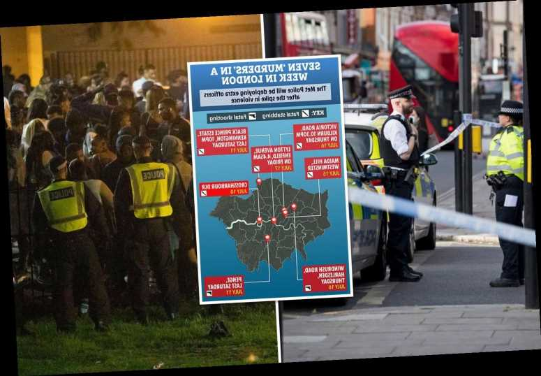 Extra cops deployed on London's streets after seven 'murders' in a week and more illegal raves planned