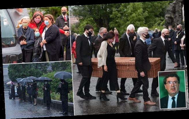 Body of John Hume arrives at cathedral ahead of funeral