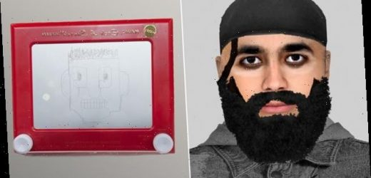 Police e-fit mocked as suspect beard looks like it's done with 80s toy