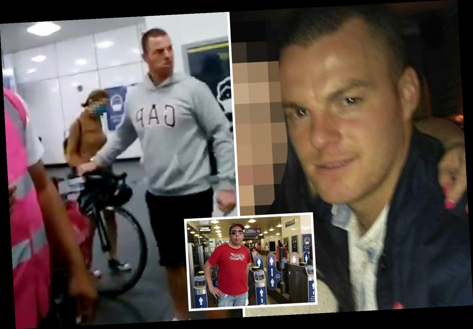 Mum's shame as man who 'knocked out commuter in London station mask row' revealed as scaffolder dad-of-one