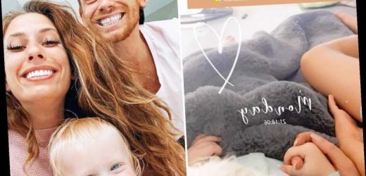 Stacey Solomon cuddles up with the 'loves of my life' on the sofa amid rumours she's trying for baby girl with Joe Swash