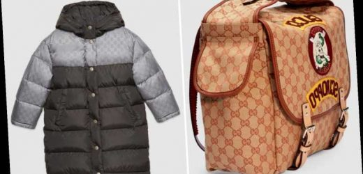 Gucci launches kids' back to school range featuring £900 bag and £800 coat