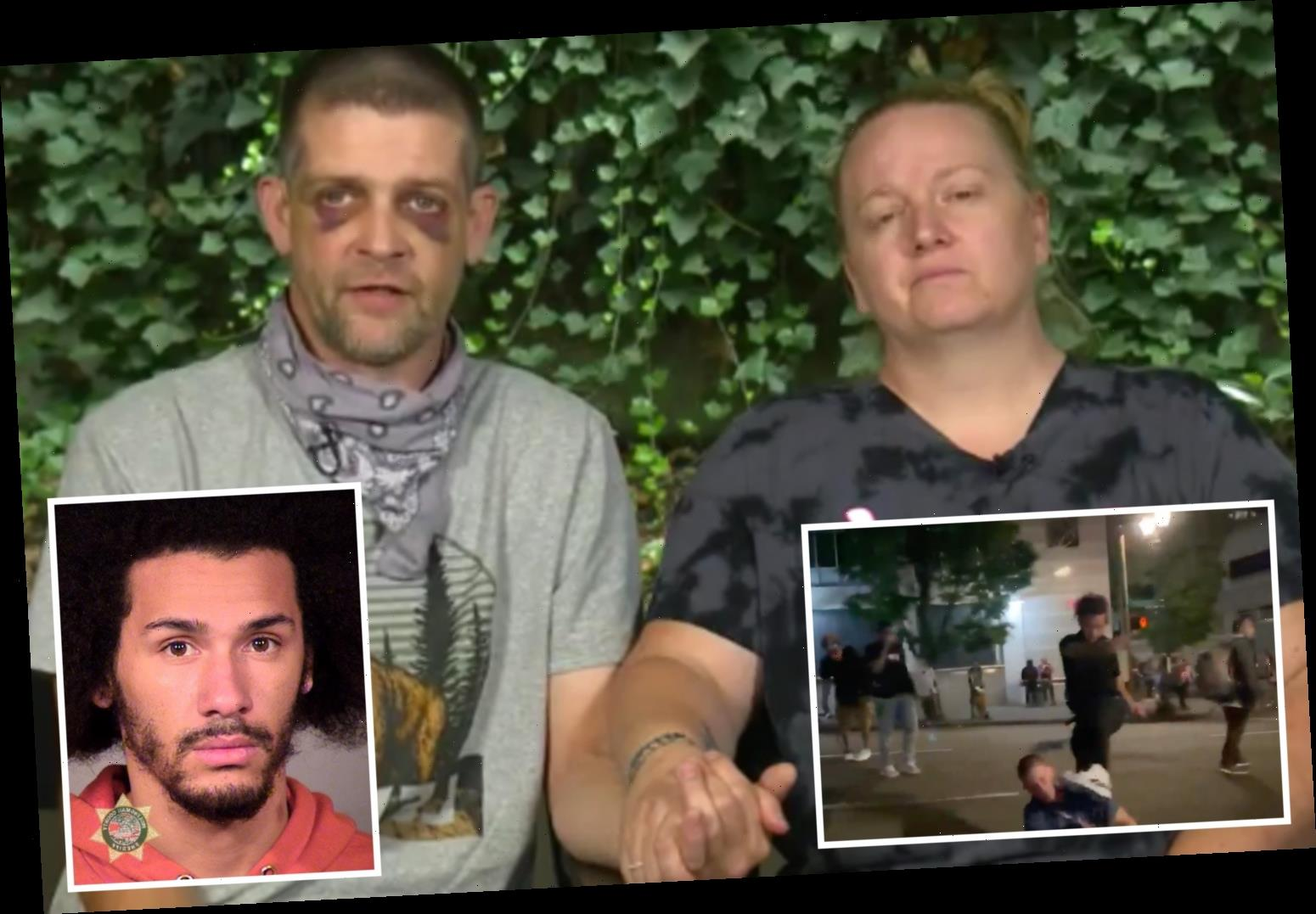 Beaten Portland trucker Adam Haner slams protesters saying 'they're exhibiting the same behavior they're trying to stop'