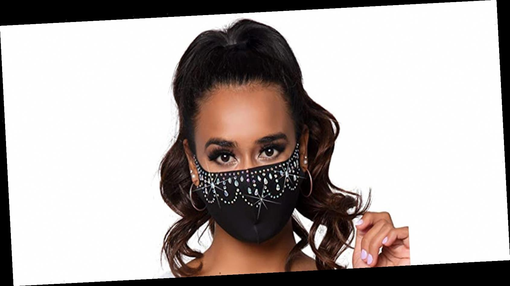 Make a Sparkly Statement in These Rhinestone-Embellished Face Masks