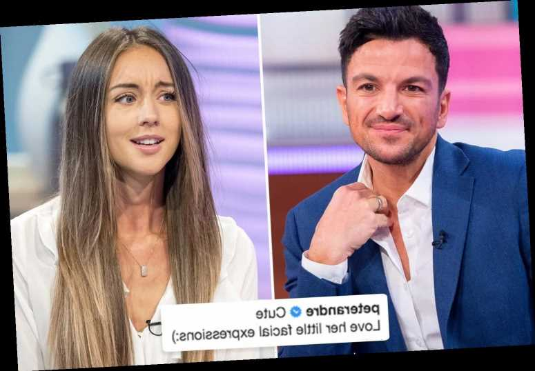 Peter Andre posts tribute to wife Emily as he calls her facial expressions 'cute'