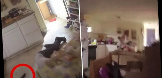 Harrowing body cam vid shows the moment Las Vegas cops storm motorhome and shoot dead a man holding his mother hostage