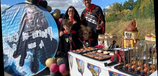 Arsenal star Pierre-Emerick Aubameyang dresses as wizard for sons' birthdays 48 hours after FA Cup final magic