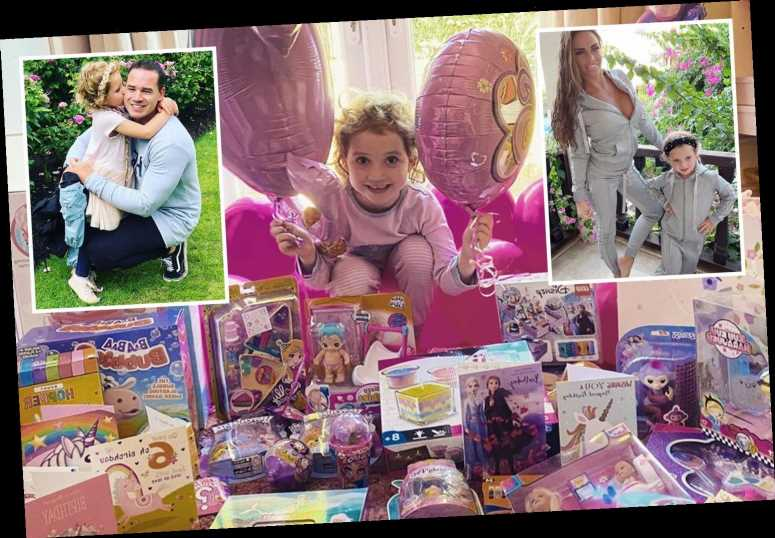 Katie Price's daughter Bunny turns 6 with huge pile of presents by dad Kieran Hayler as mum is away on holiday