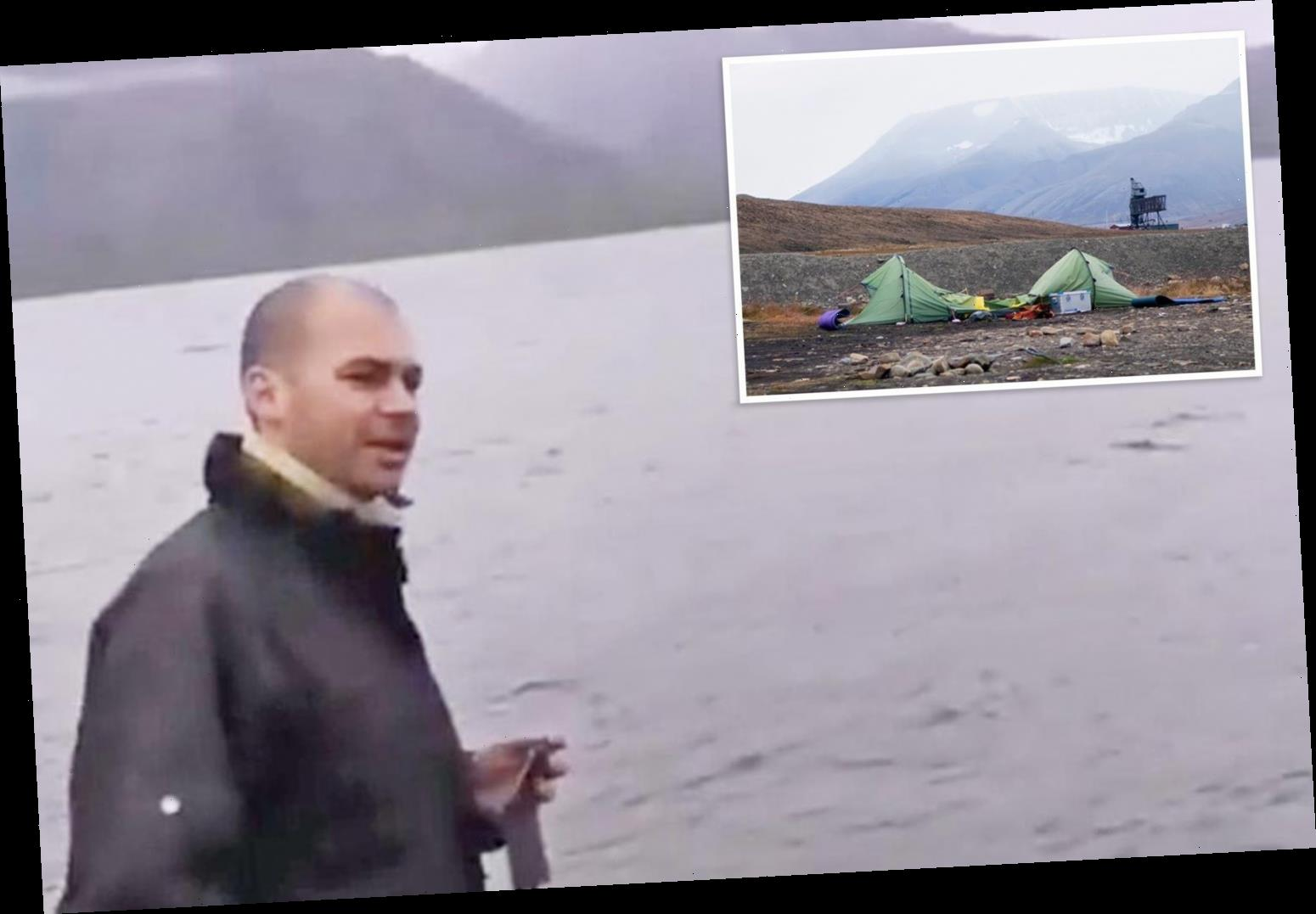 First picture of man, 38, dragged from tent and mauled to death by polar bear on remote island