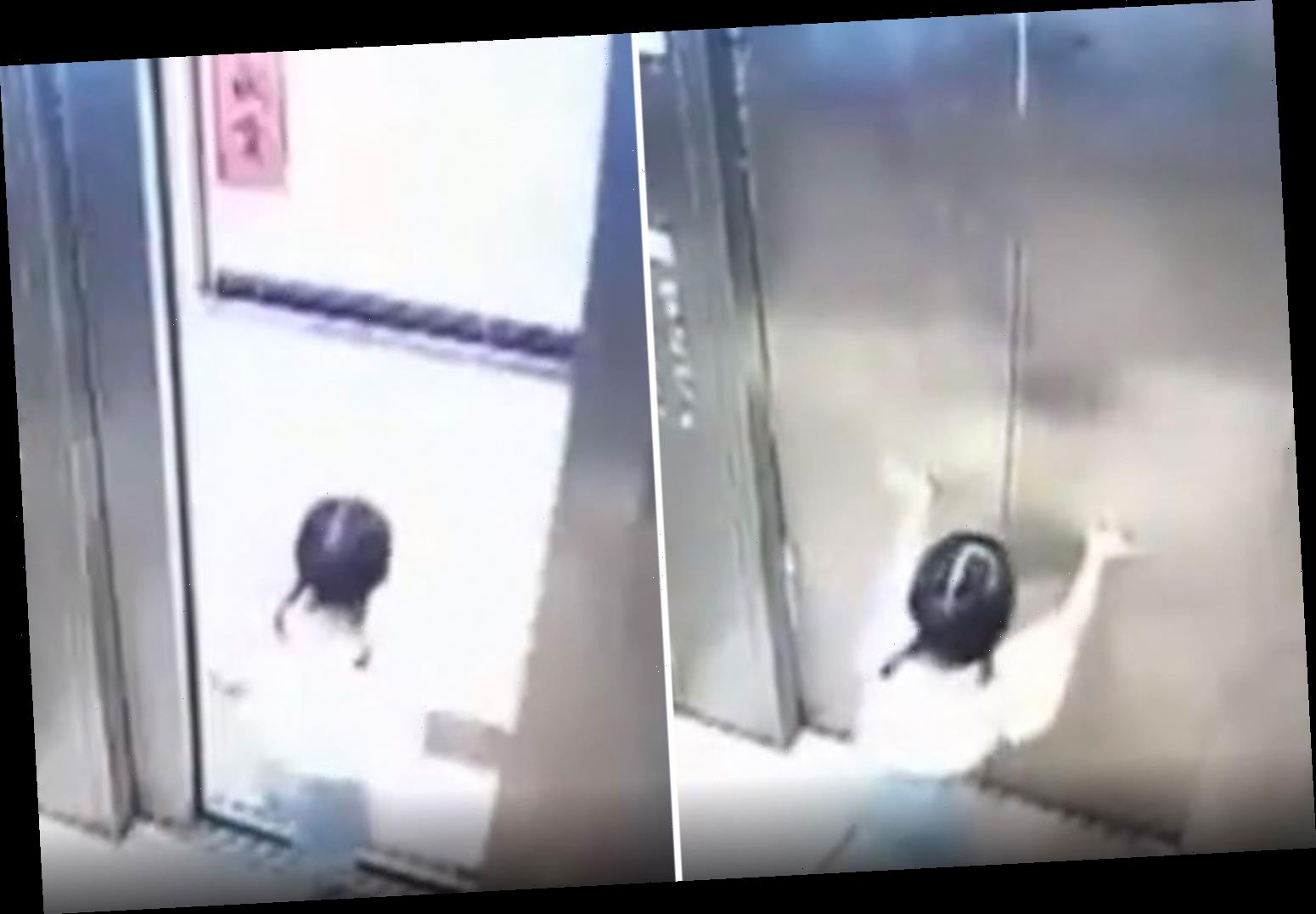 Girl, 3, falls to her death from 8th storey window trying to find grandma after pair got separated in lift