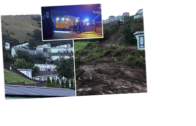 Scotland weather: 500 caravans evacuated at Fife holiday park as landslip causes mobile homes to slide down hill