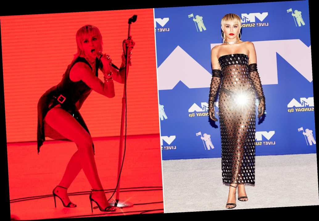 Miley Cyrus doubles up on sheer dresses at VMAs 2020