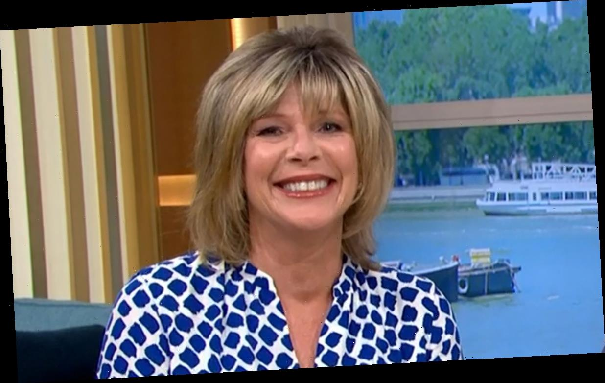 Ruth Langsford wows in stunning £14 blue and white Tesco dress