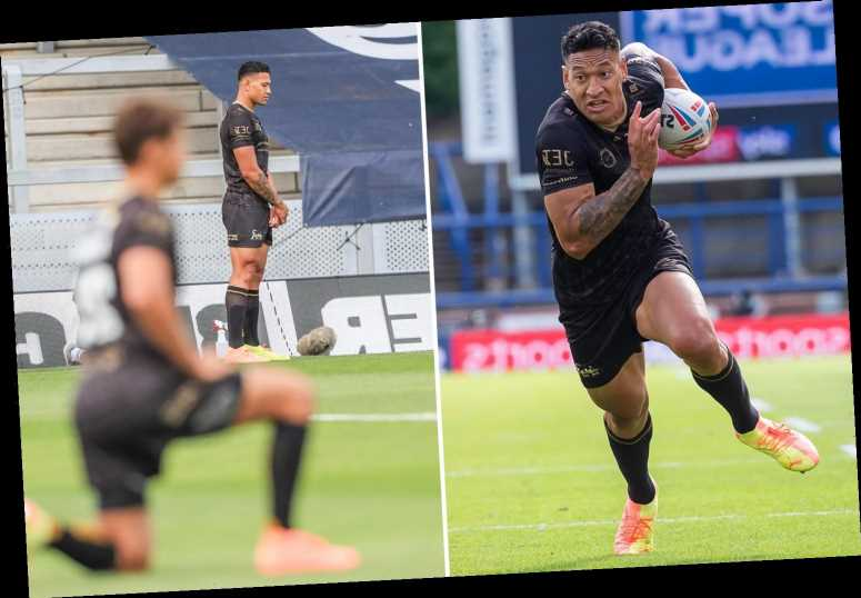 Israel Folau sparks further controversy as Super League star refuses to take knee in solidarity with Black Lives Matter