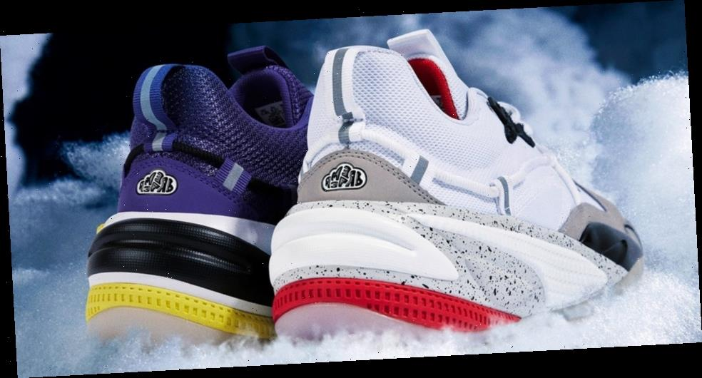 """J. Cole and PUMA Ready RS-Dreamer in """"Purple Heart"""" and """"Concrete Jungle"""" Colorways"""