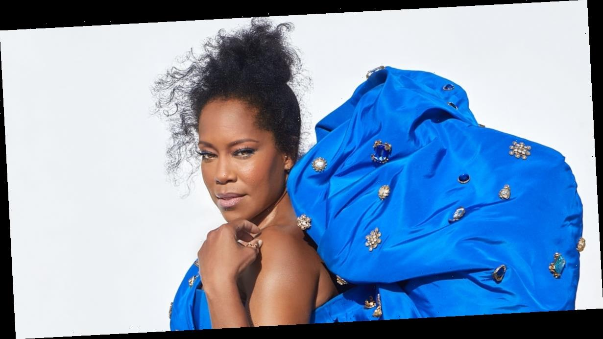 Regina King Looks Like a QUEEN in Her Bedazzled Blue Emmys Dress
