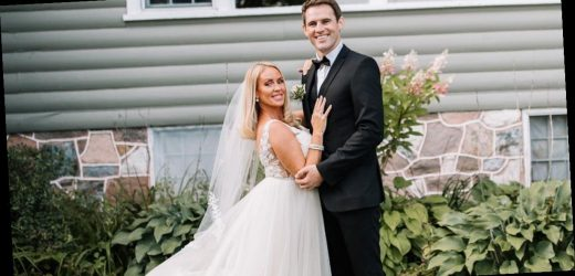 Dancing on Ice's Brianne Delcourt and Kevin Kilbane share stunning wedding pictures from lakeside ceremony in Canada