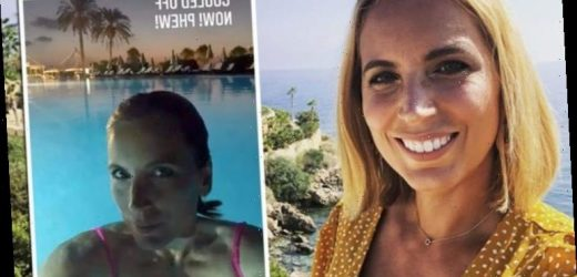 Jasmine Harman: A Place In The Sun presenter enjoys late-night dip behind scenes