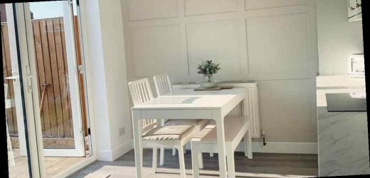Mum gives dining room 'classy' grey update for £36 using DIY trick and B&Q buys