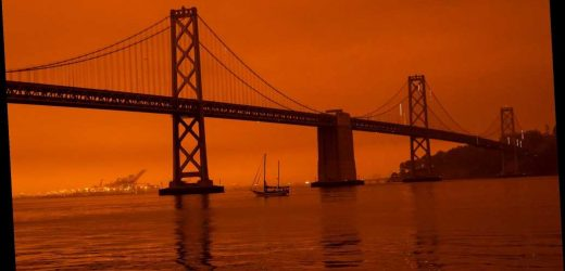Apocalyptic orange glow may have helped slow down California wildfires