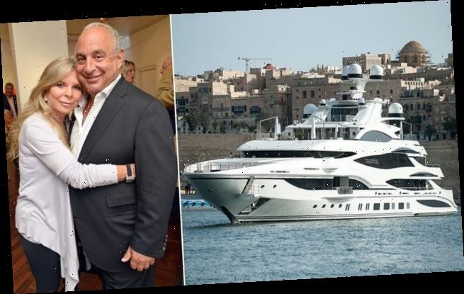 Sir Philip Green's £100m yacht quarantined with his wife on board