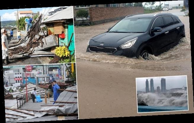 Dozens of people are injured as Japan is battered by Typhoon Haishen