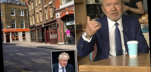 Lord Alan Sugar slams 'complacent' Britons working from home
