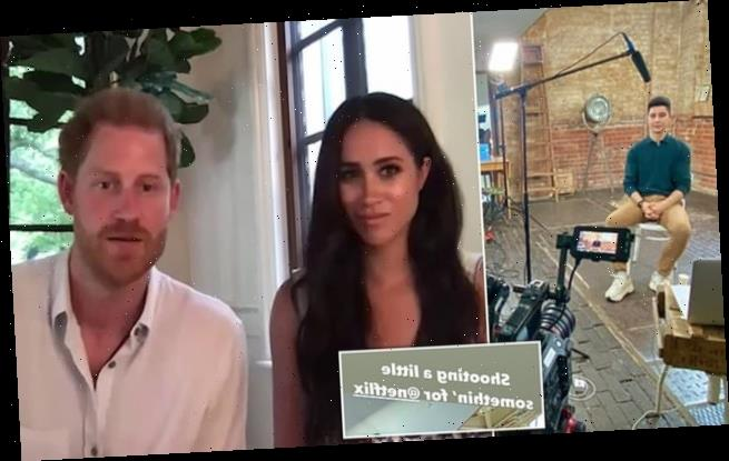 Prince Harry and Meghan Markle's biographer films with Netflix