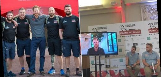 The Duke of Sussex sends video of support to soldiers in charity trek