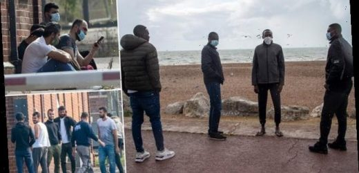 Migrant whose journey from Sudan has ended at converted Army barracks