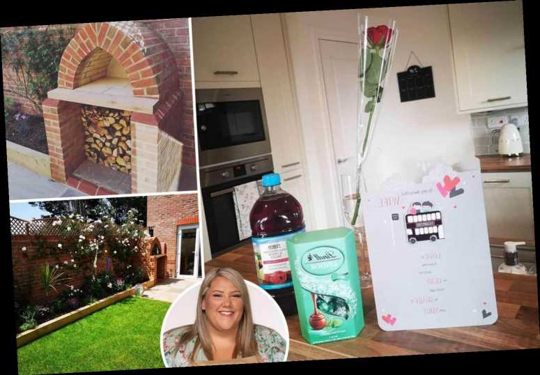 Inside Bake Off star Laura Adlington's home with amazing all white kitchen, huge garden and outside pizza oven