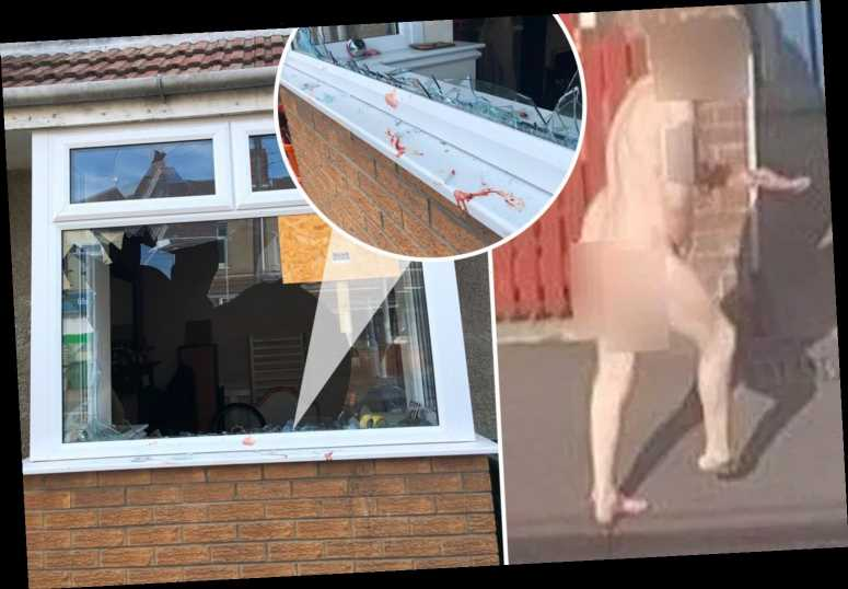 Naked man fled 'brothel' covered in blood after 'smashing through window' and using doormat to 'cover privates'
