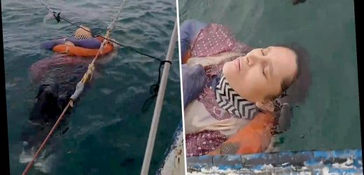 Mystery as woman missing for TWO YEARS found alive floating at sea by baffled fisherman