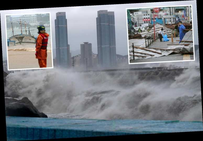Typhoon Haishen slams into Japan and South Korea leaving one dead & 84 injured in horror floods and mudslides