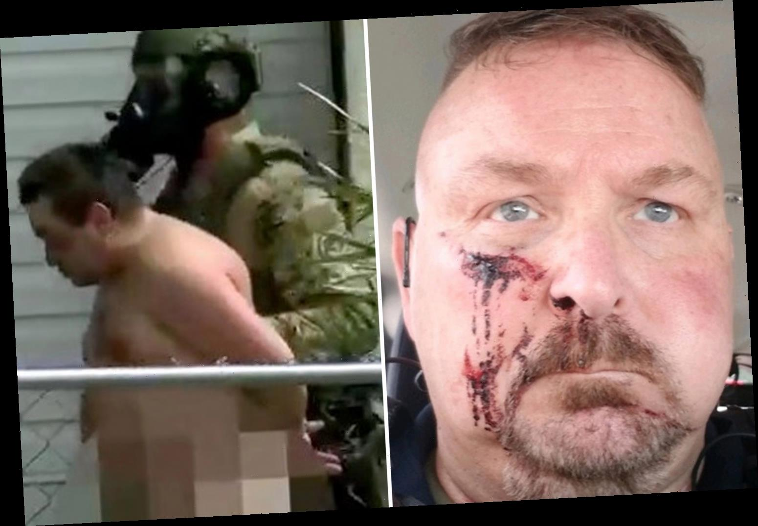 """Police chief 'stabbed in the face and told he's """"going to die today"""" after suspect knocked on his door'"""
